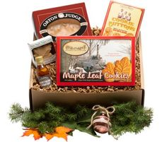 Our Vermont maple lovers gift box features delicious maple fudge, maple leaf candy, and more. Every Vermont product in this gift set is made with pure maple syrup.