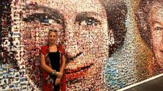 Artist Helen Marshall used more than 5,000 photos submitted by BBC viewers and listeners in the South East to make the mosaic