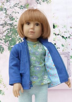 Fitted Zipped Jacket Pattern for Kidz n Cats Dolls 30 by WellyBs