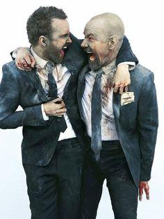 Bryan Cranston y Aaron Paul. 'Breaking Bad'