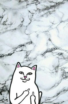 Ripndip iphone wallpaper #ripndip #middle #finger #cat #wallpaper #iphone #black #and #white #marble #background