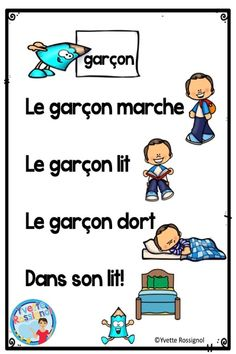 French Teaching Resources, Teaching French, Teaching Spanish, French Lessons, Spanish Lessons, French Sentences, French Poems, French Alphabet, Environmental Print