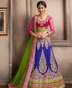 Buy Appealing Blue Lehenga Choli online at  https://www.a1designerwear.com/appealing-blue-lehenga-choli-6  Price: $104.30 USD