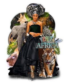 """🛫Travel the World~Africa🐒🐘🐅"" by cindu12 ❤ liked on Polyvore featuring art"