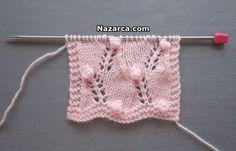 orgu-ajurlu-tohum-modeli-yapimi Lace Knitting Patterns, Stitch Patterns, Crochet Bikini, Knit Crochet, Moda Emo, Lana, Diy And Crafts, Projects To Try, Couture