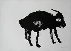 1996, Zt. Tier, Lithograph ca 50 x 65 cm