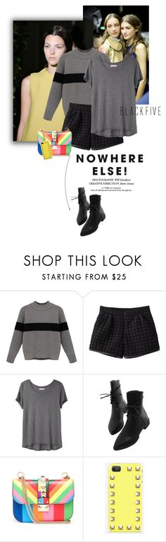"""""""Blackfive #2"""" by juhh ❤ liked on Polyvore featuring Organic by John Patrick, Valentino and BlackFive"""