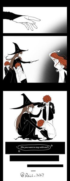 If i was a witch. Photo Manga, Mystic Messenger Comic, Anime Witch, Saeran, Cute Comics, Anime Couples, Anime Siblings, Anime Love, Serenity