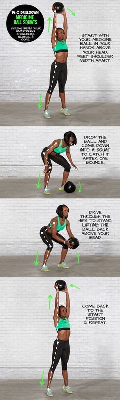 NTC Drilldown: Medicine Ball Squats. #ntc