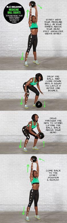 NTC Drilldown: Medicine Ball Squats. #ntc