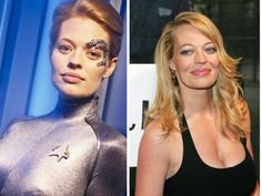 The Cast Of Star Trek Then & Now Borg Seven of Nine Jeri Ryan Jeri Ryan won two Saturn Awards for her performance as Borg Seven of Nine and of course our hearts. Star Trek Actors, Star Trek Cast, Star Trek Characters, Star Trek Series, Star Trek Show, Star Trek Enterprise, Star Trek Voyager, Star Trek Starships, Jeri Ryan