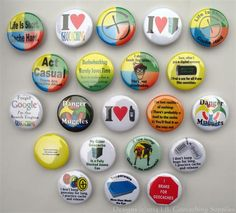 A large variety of geocache themed pinback buttons.