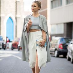 Look Kristina Bazan no Paris Fashion Week.