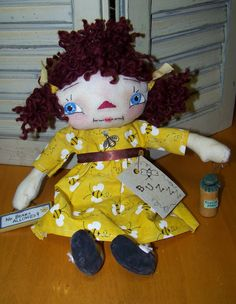 Primitive Bumble Bee doll. SOLD SEE OTHERS AT MY SHOP