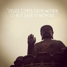 #peace #within #buddha #quote