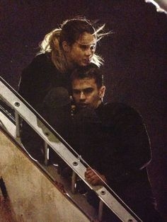 Theo & Shai during filming