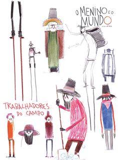 """Boy and the World"" character design by Alê Abreu."