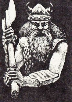 Frost Giant by Dave Trampier, AD&D Monster Manual, TSR, 1977.