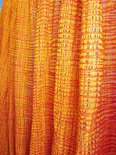 Vintage Modern Curtain Panel PERSIMMON and TANGERINE by ReArcade, $85.00