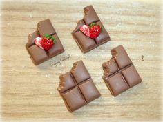 chocolade met aardbei oorbellen (studs)