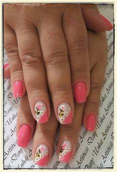 Spring Nails, Summer Nails, Manicure, Eyeliner, Nail Stamping, Nails Inspiration, Nail Art Designs, Flower Nails, Nail Stickers