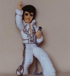 Crochet Elvis Doll Pattern. From: http://www.kathleenearly.com/celebrity/
