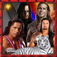 undertaker,shawn michaels,roman reigns,bret hart, with white tiger: hope u all like Black lightning