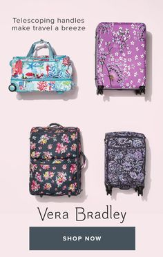 8e078a554efa Take off in style with our unique collection of Vera Bradley travel bags  for women. Your next getaway awaits  shop travel gear and accessories now.