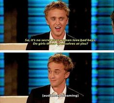 And he's definitely a confident young man. | 18 Times Tom Felton Had The Heart Of A True Gryffindor
