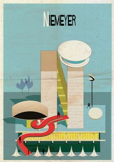 Archibet alphabet of architects by Federico Babina | Niemeyer