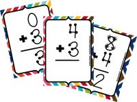 Flash cards with countable numbers for beginners or struggling learners.