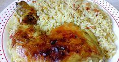Μπουτάκια κοτόπουλου στο φούρνο με ρυζάκι κίτρινο πεντανόστιμο 😋   ΥΛΙΚΆ  4 μπουτάκια κοτόπουλου  3 ποτηράκια του κρασιού ρύ... Chicken Parmesan Recipes, Easy Meals, Easy Recipes, Rice, Meat, Anastasia, Greek, Food, Easy Keto Recipes