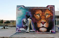 WD Street Art - Lion of Kea - Tzia Island, Greece - 2013