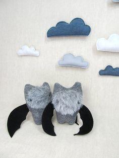 Bat Handmade Stuffed Animal Toy Children Plush by violastudio // 25 / give with Stellaluna book