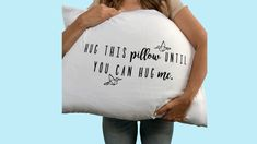 Long Distance Friendship Gift – Presents for boyfriend diy Long Distance Relationship Gifts, Long Distance Gifts, Presents For Boyfriend, Boyfriend Gifts, Boyfriend Pillow, Diy Gifts For Friends, Gifts For Kids, Distance Friendship, Miss You Gifts