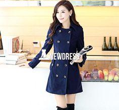 Hot Women Warm Long Coat Jacket Windbreaker Parka Outwear Coat