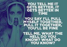 "Lady Gaga, ""Til It Happens To You"" 