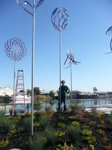Mark White Helps to Beautify Stockton, California Stockton California, California Love, Wind Sculptures, Left Coast, When You Smile, Laugh A Lot, Best Places To Live, Dream Big, Besties