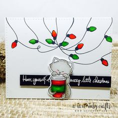 2015 Winter/Holiday Coffee Lovers Blog Hop:  Card by Ruby  | Newton Loves Coffee stamp set by Newton's Nook Designs #newtonsnook