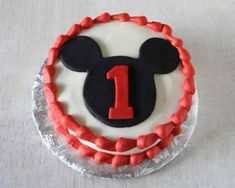 Mickey Mouse Cake and Smash Cake | http://rosebakes.com/mickey-mouse-cake-smash-cake/