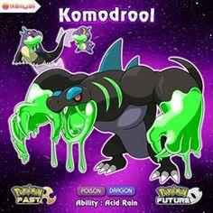 Congrats, your Salizard has evolved into Komodrool, the Drooling Pokemon! Pokemon Dex, Pokemon Fake, Pokemon Pokedex, Pokemon Pins, Pokemon Images, Pokemon Comics, Pokemon Pictures, Pokemon Fusion Art, Pokemon Fan Art