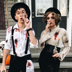 Couples Halloween Outfits, Scary Couples Halloween Costumes, Cute Couples Costumes, Funny Couple Halloween Costumes, Hallowen Costume, Scariest Halloween Costumes Ever, Zombie Couple Costume, Women Halloween, Funny Halloween Costumes
