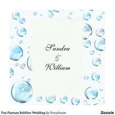 Fun Fantasy Bubbles Wedding Invitation