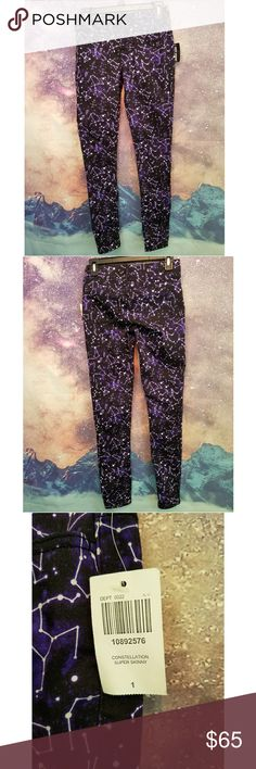 Constelation Galaxy Skinny Jeans Hot Topic Constellation Super Skinny Jeans NWT Black Heart Jeans Skinny