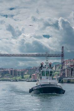 Bizkaia Bridge by Emilio P. Puente colgante entre Las Arenas y Portugalete, Bizkaia, SPAIN