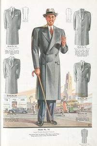 doble botonadura abrigo.