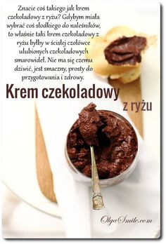 Chocolate cream made of rice - Chocolate cream - Chocolate dessert Chocolate Cream, Chocolate Desserts, Mashed Potatoes, Nutella, Cereal, Gluten Free, Pudding, Beef, Cookies