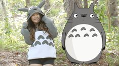 DIY Totoro costume for Halloween. Great for kids and adults