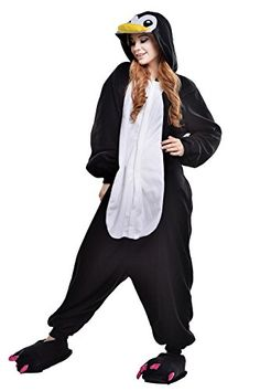Newcosplay Adult Anime Unisex Pyjamas Halloween Onesie Costume XL Penguin      Continue to the product at the image link. 5b5ebae563c5
