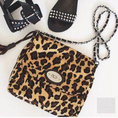Handbags - Leopard print bag cross body purse